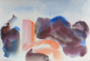 Chianale, Piemonte, Italy, 2009, aquarelle on paper