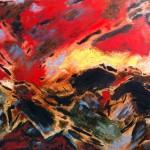 Cévennes, 2013, Öl auf Leinwand, 81/ 100 cm.