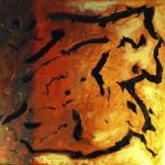Vor dem Wort, 2013, Öl auf Leinwand, 50/50 cm.