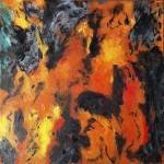 Gaia, 2013, Öl auf Leinwand, 50/50 cm.