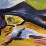 Die Höhle, 2010, Öl auf Leinwand, 100/ 150 cm.