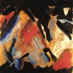 Bei Anbruch der Dunkelheit 2014, Öl auf Leinwand, 50/ 50cm
